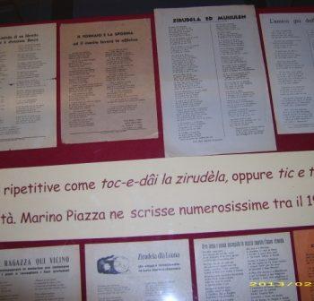 """Mostra """"Toc e dâi la zirudèla. Omaggio a Piazza Marino"""", 2013"""
