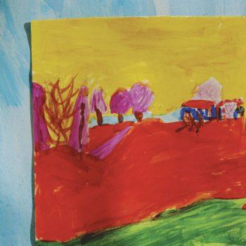 4° A - Porta finestra su Bazzano. Ispirandoci a Matisse.