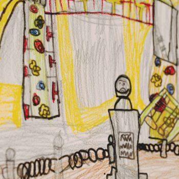 1° C - Tracce di Kandinsky. Nel giardino della scuola.