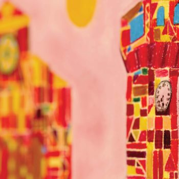 3°A - Scacchiere di colori su Bazzano. Scorci colorati.